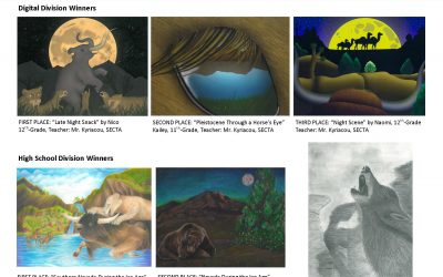 Local student art recognized to mark National Fossil Day