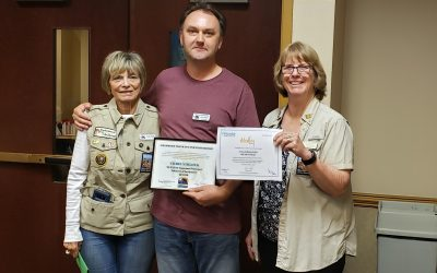 Congratulations to Chris Niblock, our first Volunteer of the Quarter!